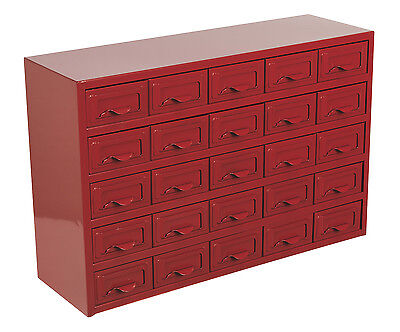 APDC25 Sealey Metal Cabinet Box 25 Drawer [Tool Storage]