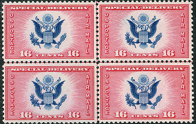 US Scott #CE2 Great Seal Special Delivery Center Line Block of 4 MNH**FREE SHIP*