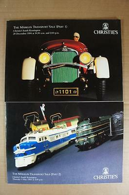Christie's Marklin 2 part 1994 & 5 fully colour illustrated auction catalogues