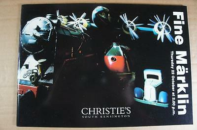 Christie's Marklin 54 page 1998 fully illustrated 181 lot auction catalogue