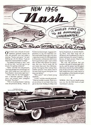 1956 Vintage ad Nash American Motors No. 71 Ed Nell 60th Birthday Man Cave Art
