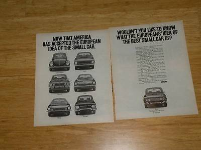 Vintage Magazine Ad - 1971 - Fiat   (two-pages)