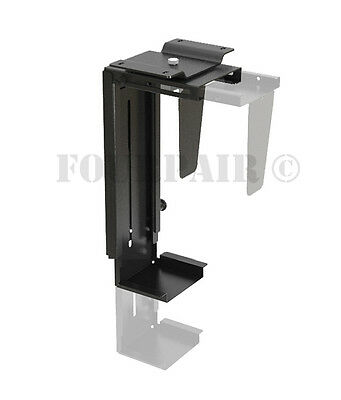 Universal Adjustable Wall or Under Desk Table CPU PC Swivel Mount Holder Bracket