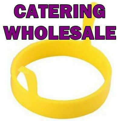 Silicone Yellow Round Egg/Pancake Rings Commercial QTY Bulk Lots/Clubs/BBQ/Cook