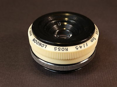 Rare ROSS (London) Rosstar 5cm f4.5 Enlarging Lens - Very Nice!