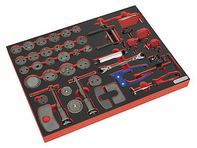 TBTP10 Sealey Tool Tray with Brake Service Tool Set 42pc [Tool Trays]