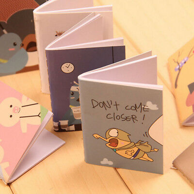 1pc Mini Cartoon Blank Diary Pocket Notepad Planner Journal Handy Notebook Memo
