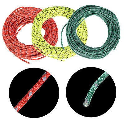 3 Colors Reflective Guyline Canopy Tent Rope Guy Line Camping Cord Paracord DY