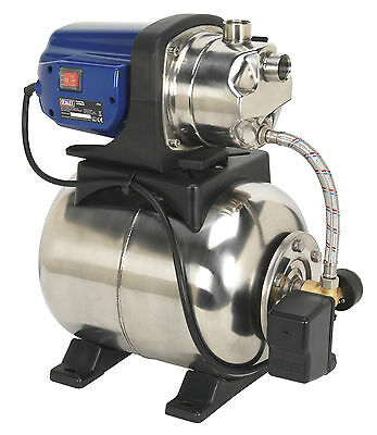 WPB062S Sealey Surface Mounting Booster Pump Stainless Steel 62ltr/min 230V