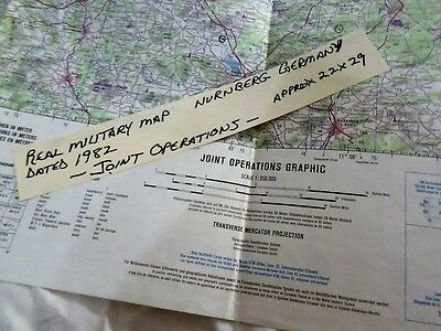 Vintage Real Military Map Joint Operations USA Germany Nurnberg U.S. Army Rare