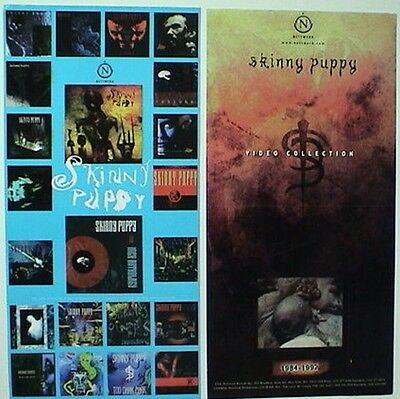 "Skinny Puppy ""video Collection & Album Covers"" 2-Sided U.s. Promo Poster/banner"