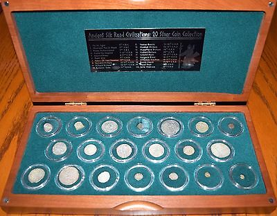 Ancient Silk Road Civilizations 20 Silver Coin Collection ANA wood case Cert