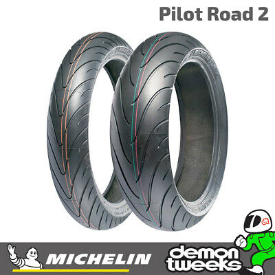 Michelin Pilot Road 2 Sport Touring Motorcycle / Bike Tyre 120 70 17 58W Front
