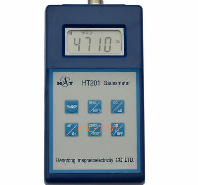 HT201 Digital Gauss Meter Surface Magnetic Field Tesla Tester AC/DC Fluxmeter