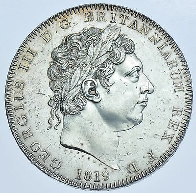 1819 Lix Crown; British Silver Coin From George Iii Au