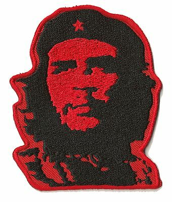 Patch Ecusson écusson brodé patche Che Guevara thermocollant adhésif rouge