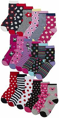 Zest Girls Cotton Rich Character Design Socks