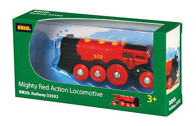 BRIO 33592 Mighty Red Action Locomotive - Railway Battery Function Age 3-5 yr