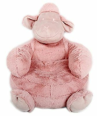 Brilliant Kids Soft Pink Fabric Sheep Armchair For Nurseries & Bedrooms