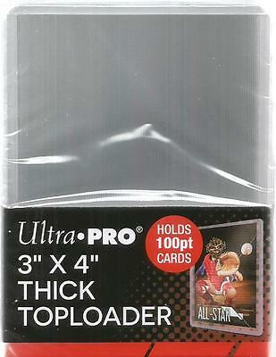 Ultra Pro Thick Top Loaders 100pt Toploaders Pack of 25 Sealed 76mm x 102mm