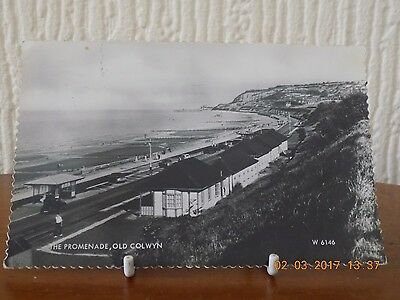"Real Photo Postcard ""the Promenade, Old Colwyn"" Wales (Used 1971)"