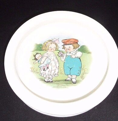 Vintage Buffalo Pottery decorated Children's Dish