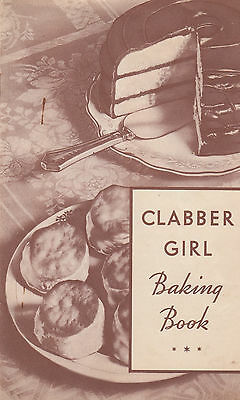 Clabber Girl Baking Powder Book 1934 Booklet Recipes Hulman & Co Terre Haute IN