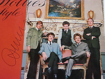 The Hollies Autographs  Orig  1964  U.k. Ep  In The Hollies Style  Autographed