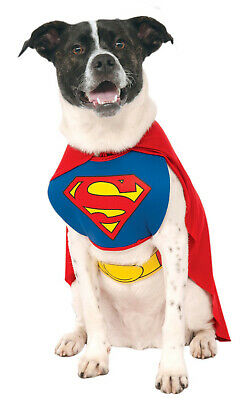 Superman Super Hero Dog Pet Costume –4 Sizes to Choose