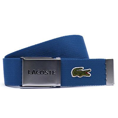 Lacoste 2017 Mens RC0012 40mm Gift Box Woven Adjustable Belt - Blue - One Size