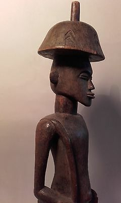 Antique African early 20thc Tribal Figure Carving / Statue