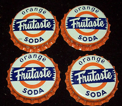 Lot of 4 Vintage Frutaste Orange Unused Soda Pop Bottle Caps Dad's Bottling Co.