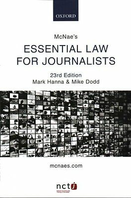 McNae's Essential Law for Journalists by Mark Hanna 9780198748359