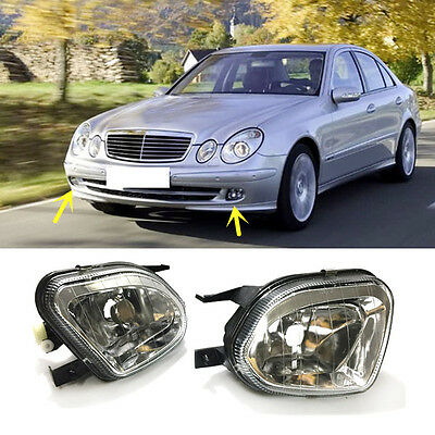 For Mercedes Benz E series 2003-2006 Front Fog Lamps Cover Replacement Fog Light