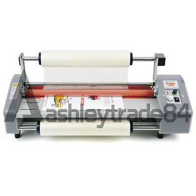 NEW A2 Four Rollers Hot Roll Laminating Machine Laminator 44cm Adjust Speed 220V