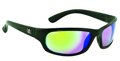 New Polarized Calcutta Steelhead Sunglasses Matte Black /Green Mirror SH1GM
