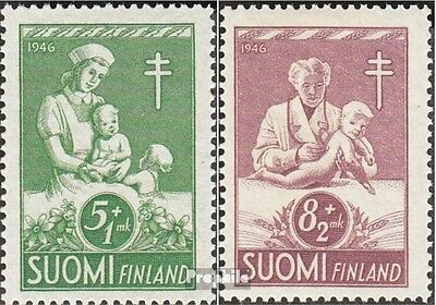 Finland 326-327 fine used / cancelled 1946 Fight Tuberculosis