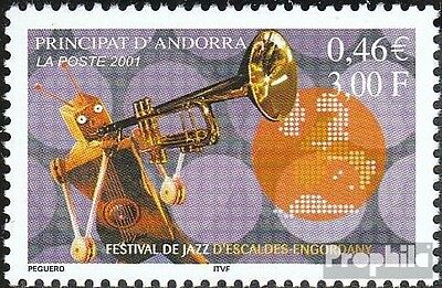 Andorra-French Post 571 mint never hinged mnh 2001 jazz-Festival