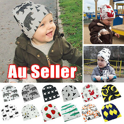 Kids Girls Boys Cotton Beanie Soft Children Knit Hat Toddler Infant Kid Cap OZ