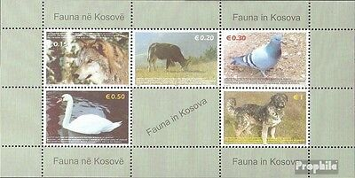 kosovo (UN-Administration) block1 mint never hinged mnh 2006 Animals