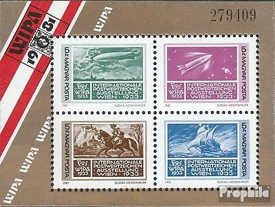 Hungary Block150A fine used / cancelled 1981 Stamp Exhibition
