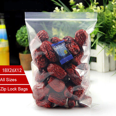 100 pieces 0.12mm Thick Selfseal Bags Resealable Plastic Zip Lock Bags All Sizes
