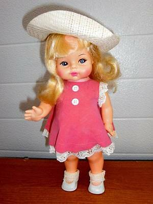 "Horsman ~ Vintage 13"" Cute Vinyl Horsman Doll 1970, Original Clothing"