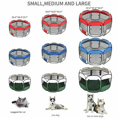 "45""57"" Dog Kennel Pet Fence Puppy Soft Oxford Playpen Exercise Pen Folding Crate"