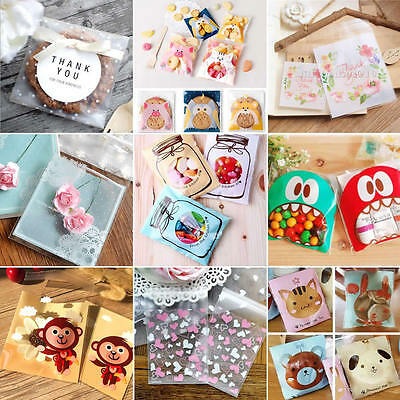 50Pcs Cute Cello Cellophane Kids Wedding Favour Sweet Biscuit Party Gift Bags
