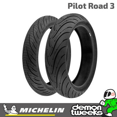 Michelin Pilot Road 3 Motorcycle Sport Touring Road Tyre Front 120 70 17 58W