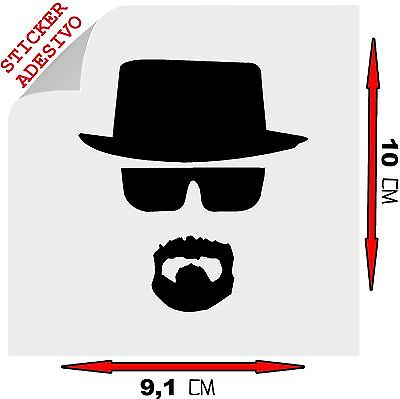 Sticker Adesivo Decal Heisenberg Breaking Bad Walter White Telefilm Tuning