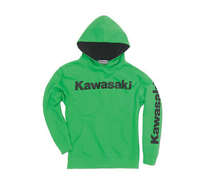 Kawasaki Youth Pullover Hoodie in Kawasaki Green - Size Large - Genuine Kawasaki