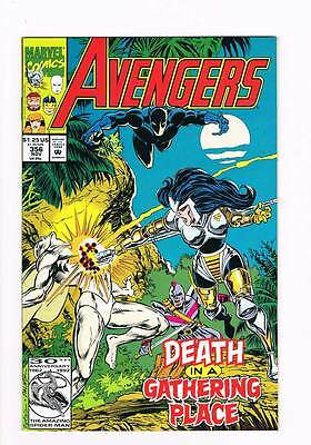 Avengers # 356 Death in a Gathering Place ! grade - 9.0 scarce book !!