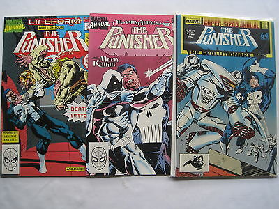 PUNISHER ANNUAL s #s 1,2,3,4,5,& 6. 1988-1993. BARON, SMITH, JIM LEE etc.MARVEL